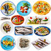 Купить «Tasty different dishes with horse-mackerel and sardines at plates isolated», фото № 32059128, снято 22 августа 2019 г. (c) Яков Филимонов / Фотобанк Лори
