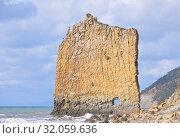 Скала Парус – пласт песчаника на берегу Черного моря. Стоковое фото, фотограф Мартынов Антон / Фотобанк Лори