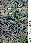 Hillsides terraced for farming purposes near Ankober, Ethiopia. Стоковое фото, фотограф Edwin Remsberg / age Fotostock / Фотобанк Лори