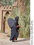 Palm grove of Zagora, Draa River valley, Province of Zagora, Region Draa-Tafilalet, Morocco, North West Africa. (2019 год). Редакционное фото, фотограф Christian Goupi / age Fotostock / Фотобанк Лори
