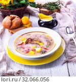 Купить «Polish easter soup», фото № 32066056, снято 20 ноября 2019 г. (c) easy Fotostock / Фотобанк Лори