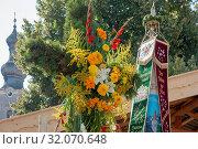 Fest 70 Jahre Trachtenkapelle Anger-Höglwörth und Fahnenweihe Trachtenverein Anger-Höglwörth. Стоковое фото, фотограф RoHa-Fotothek Fürmann / age Fotostock / Фотобанк Лори