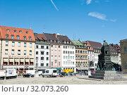 Купить «Красивые дома Мюнхена. Солнечный летний день. Бавария. Германия», фото № 32073260, снято 19 июня 2019 г. (c) E. O. / Фотобанк Лори