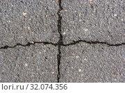 Фон и текстура старого асфальта на дороге с крестообразной трещиной. Стоковое фото, фотограф Sergei Gorin / Фотобанк Лори