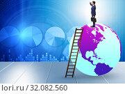 Купить «Businessman on top of the world», фото № 32082560, снято 20 сентября 2019 г. (c) Elnur / Фотобанк Лори
