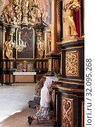 Купить «Ukraine, Lviv. The Bernardine church and monastery in Lviv is located in the city's Old Town, south of the market square. The monastery along with the...», фото № 32095268, снято 5 июля 2015 г. (c) age Fotostock / Фотобанк Лори