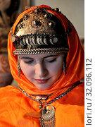 Купить «Russia, Dagestan, Dorgin woman», фото № 32096112, снято 18 сентября 2018 г. (c) age Fotostock / Фотобанк Лори