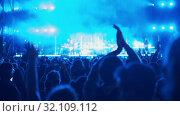 Купить «A concert audience», видеоролик № 32109112, снято 20 сентября 2019 г. (c) Данил Руденко / Фотобанк Лори