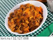 Купить «Stew of cabbage with pork», фото № 32127008, снято 17 ноября 2019 г. (c) Яков Филимонов / Фотобанк Лори
