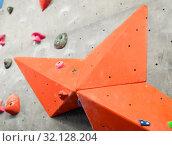 Купить «exercise wall at indoor climbing gym», фото № 32128204, снято 2 марта 2017 г. (c) Syda Productions / Фотобанк Лори