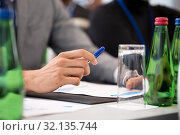 hands of businessman at business conference. Стоковое фото, фотограф Syda Productions / Фотобанк Лори