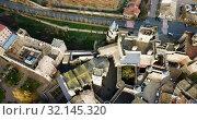 Купить «Towers of castle Palacio Real de Olite. Spain», видеоролик № 32145320, снято 20 декабря 2018 г. (c) Яков Филимонов / Фотобанк Лори