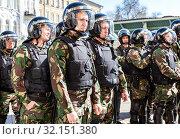 Купить «Special Forces soldiers of the police», фото № 32151380, снято 5 мая 2018 г. (c) FotograFF / Фотобанк Лори