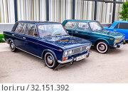 Купить «Vintage Russian automobile Lada-2103», фото № 32151392, снято 19 мая 2018 г. (c) FotograFF / Фотобанк Лори