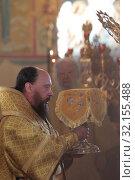 Купить «Епископ Северобайкальский и Сосново-Озёрский Николай в Николо-Пешношском монастыре», эксклюзивное фото № 32155488, снято 8 сентября 2019 г. (c) Дмитрий Неумоин / Фотобанк Лори