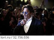Купить «Johnny Depp during Waiting For The Barbarians red carpet. 76th International Film Festival, Venice, Italy 06-09-2019.», фото № 32156036, снято 6 сентября 2019 г. (c) age Fotostock / Фотобанк Лори