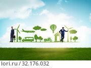 Купить «The concept of clean energy and environmental protection», фото № 32176032, снято 25 января 2020 г. (c) Elnur / Фотобанк Лори