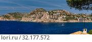 Panoramic landscape of Andratx hillside town. Majorca Island, Baleares, Spain (2019 год). Стоковое фото, фотограф Alexander Tihonovs / Фотобанк Лори