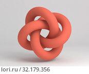 Купить «Geometric representation of a torus knot. 3d», иллюстрация № 32179356 (c) EugeneSergeev / Фотобанк Лори