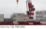 Купить ««Севморпуть» — ледокольно-транспортное судно (лихтеровоз) с атомной силовой установкой», видеоролик № 32185656, снято 26 августа 2019 г. (c) А. А. Пирагис / Фотобанк Лори