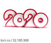 Купить «2020 Happy new year creative design background or greeting card», иллюстрация № 32185908 (c) Дмитрий Кутлаев / Фотобанк Лори