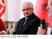 6.05.2019 Warsaw, Poland. Debate with Frans Timmermans. Pictured: Wlodzimierz Cimoszewicz. Редакционное фото, фотограф Kleta / age Fotostock / Фотобанк Лори
