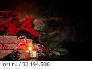 Купить «Chrismas and New Year background.», фото № 32194508, снято 5 января 2019 г. (c) Мельников Дмитрий / Фотобанк Лори