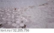 Купить «Aerial view of White Mountain near Russian town of Voskresensk - slagheap entirely composed of phosphogypsum mining wastes», видеоролик № 32205756, снято 12 мая 2019 г. (c) Яков Филимонов / Фотобанк Лори