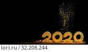 Купить «2020 New Year luxury design», фото № 32208244, снято 20 декабря 2018 г. (c) Иван Михайлов / Фотобанк Лори