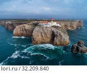 Купить «Lighthouse of Cabo Sao Vicente», фото № 32209840, снято 17 февраля 2019 г. (c) Михаил Коханчиков / Фотобанк Лори