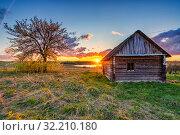 Купить «Colorful sunset in a countryside», фото № 32210180, снято 3 мая 2019 г. (c) Sergey Borisov / Фотобанк Лори