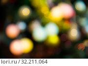 Купить «Defocused Christmas lights background», фото № 32211064, снято 2 января 2018 г. (c) Яков Филимонов / Фотобанк Лори
