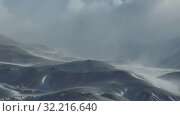 Купить «Time-lapse video of blizzard and strong snow windstorm in Altai Kuray mountain range in winter season.», видеоролик № 32216640, снято 16 сентября 2019 г. (c) Serg Zastavkin / Фотобанк Лори