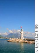 Купить «Вид на маяк возле города Алания. Турция», фото № 32219196, снято 13 октября 2009 г. (c) Арестов Андрей Павлович / Фотобанк Лори