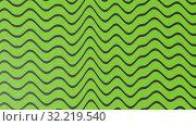 Abstract green color wave pattern with black lines. 3d illustration. Стоковая иллюстрация, иллюстратор Евгений Забугин / Фотобанк Лори