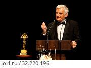 Business Center Club gala. 16 01 2010 Warsaw, Poland. Pictured: Jerzy Buzek. Редакционное фото, фотограф nowak rafal / age Fotostock / Фотобанк Лори