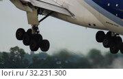 Купить «LAN Cargo Boeing 777 departure», видеоролик № 32231300, снято 24 июля 2017 г. (c) Игорь Жоров / Фотобанк Лори