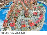 Купить «Модель острова Кнайпхоф в городе Светлогорске. Калининградская область. Россия», фото № 32232328, снято 3 сентября 2019 г. (c) E. O. / Фотобанк Лори