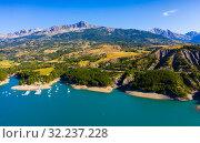 Lake Serre-Poncon, France (2019 год). Стоковое фото, фотограф Яков Филимонов / Фотобанк Лори
