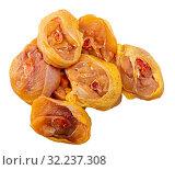 Купить «Raw sliced transversely chicken legs», фото № 32237308, снято 18 октября 2019 г. (c) Яков Филимонов / Фотобанк Лори