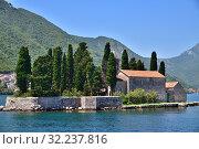 Купить «Natural islet with Saint George Benedictine monastery. Kotor Bay. Montenegro», фото № 32237816, снято 10 июня 2019 г. (c) Володина Ольга / Фотобанк Лори