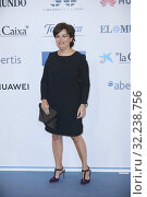 Soraya Saenz de Santa Maria attends the Commemoration of the 30th anniversary of 'El Mundo' newspaper at Hotel Palace on October 1, 2019 in Madrid, Spain. Редакционное фото, фотограф LIMITED PICTURES / age Fotostock / Фотобанк Лори