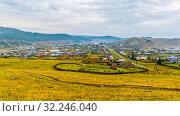 Купить «The Urals village of Kaga. Bashkortostan.», фото № 32246040, снято 6 сентября 2016 г. (c) Акиньшин Владимир / Фотобанк Лори