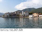 Купить «The Waterfront houses in a Tivat, Montenegro», фото № 32247328, снято 10 июня 2019 г. (c) Володина Ольга / Фотобанк Лори