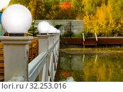 Купить «Городской парк», фото № 32253016, снято 3 октября 2019 г. (c) Кристина Викулова / Фотобанк Лори