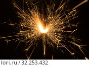 Pyrotechnics sparks close up. Стоковое фото, фотограф Argument / Фотобанк Лори
