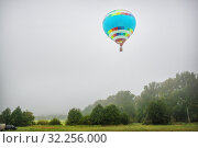 Купить «Голубой воздушный шар A blue balloon», фото № 32256000, снято 31 августа 2019 г. (c) Baturina Yuliya / Фотобанк Лори