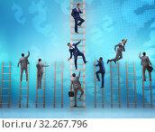 Купить «Competition concept with businessman beating competitors», фото № 32267796, снято 3 июля 2020 г. (c) Elnur / Фотобанк Лори