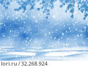 Купить «Christmas bright background», фото № 32268924, снято 20 ноября 2016 г. (c) Икан Леонид / Фотобанк Лори