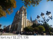 Купить «Notre-Dame Cathedral, Paris», фото № 32271136, снято 10 октября 2018 г. (c) Яков Филимонов / Фотобанк Лори